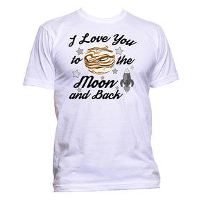 AppleWormDesign • I Love You To The Moon And Back Cute gift - Men's T-Shirt •