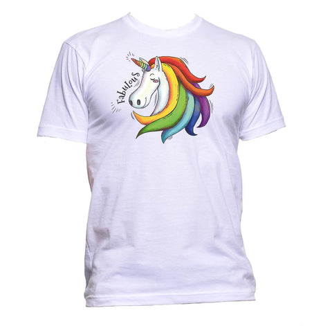 AppleWormDesign • Rainbow Unicorn gift - Men's T-Shirt •