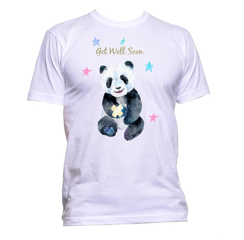 AppleWormDesign • Get Well Soon Panda Wishes Hurt Sick gift - Men's T-Shirt •