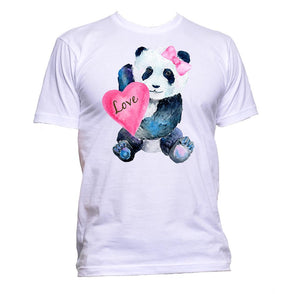 AppleWormDesign • Baby Panda Love Heart gift - Men's T-Shirt •