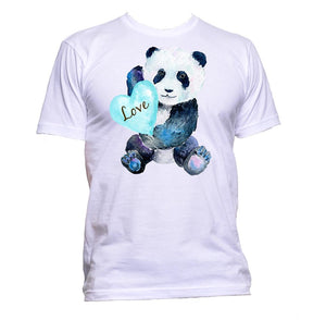 AppleWormDesign • Panda Love Blue Baby Animal gift - Men's T-Shirt •
