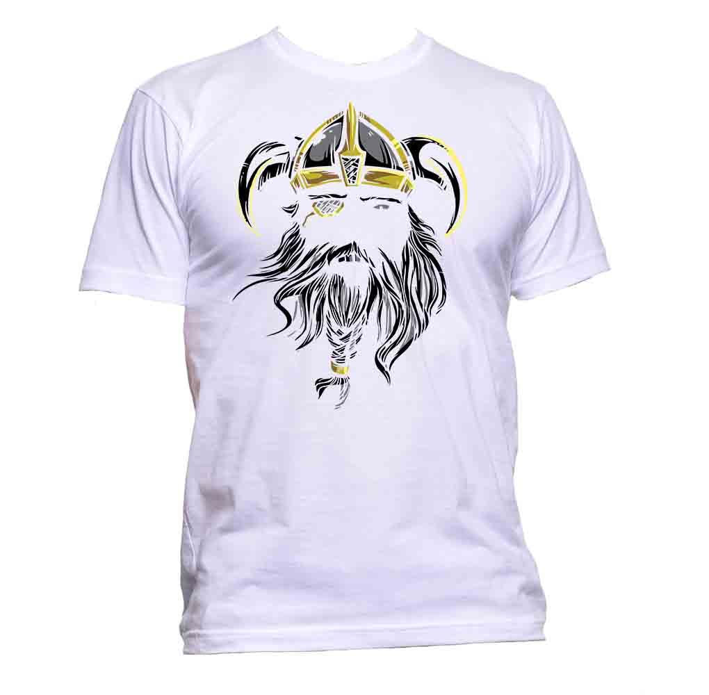 AppleWormDesign • Viking With Golden Helmet gift - Men's T-Shirt •