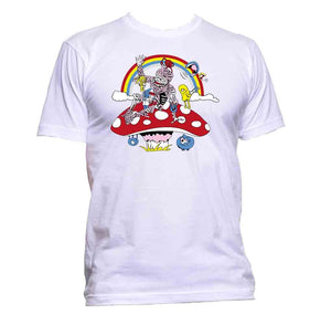 AppleWormDesign • Zombie With Rainbow And Mushroom gift - Men's T-Shirt •