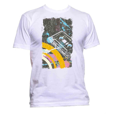 AppleWormDesign • Casette Retro Music gift - Men's T-Shirt •