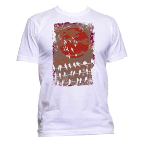 AppleWormDesign • Sun And Bird Rest gift - Men's T-Shirt •