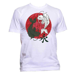 AppleWormDesign • Yin And Yang With Fish Japan Far East gift - Men's T-Shirt •