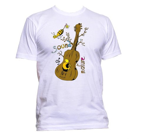 AppleWormDesign • Sound Of Nature Guitar Tree gift - Men's T-Shirt •