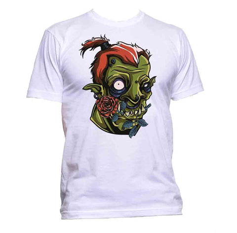 AppleWormDesign • Zombie With Rose Flower gift - Men's T-Shirt •