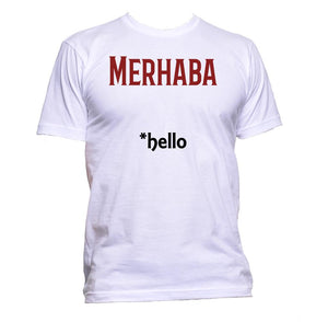 AppleWormDesign • Merhaba Turkish Hello gift - Men's T-Shirt •