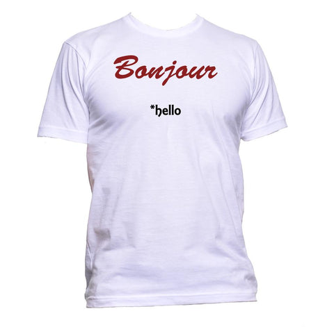 AppleWormDesign • Bonjour French Hello gift - Men's T-Shirt •