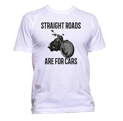 AppleWormDesign • Straight Roads Are For Cars Motorcycle gift - Men's T-Shirt •