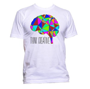 AppleWormDesign • Think Creative Brain gift - Men's T-Shirt •