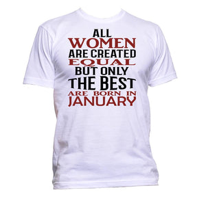 AppleWormDesign • All Women Are Created Equal But Only The Best Are Born In January gift - Men's T-Shirt •