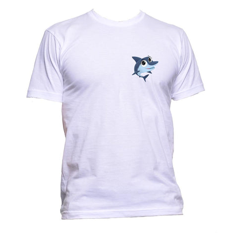 AppleWormDesign • Cute Shark Pocket gift - Men's T-Shirt •