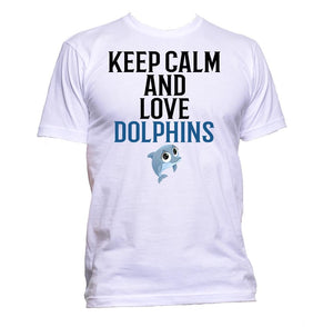 AppleWormDesign • Keep Calm And Love Dolphins gift - Men's T-Shirt •