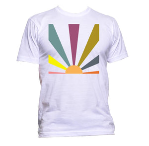 AppleWormDesign • Rising Sun Geometric gift - Men's T-Shirt •