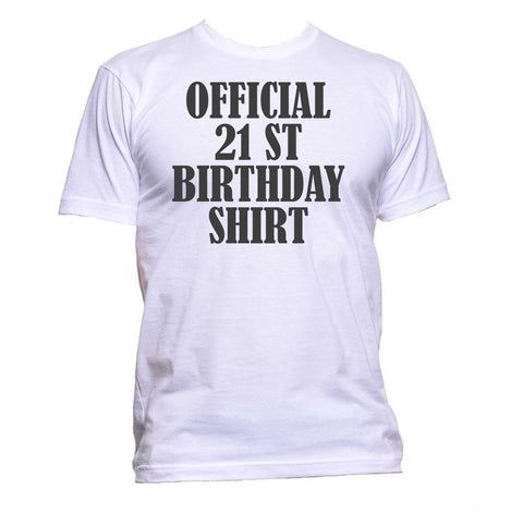 AppleWormDesign • Official 21st Birthday Shirt Birthday Years Old gift - Men's T-Shirt •