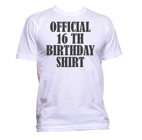 AppleWormDesign • Official 16th Birthday Shirt Birthday Years Old gift - Men's T-Shirt •