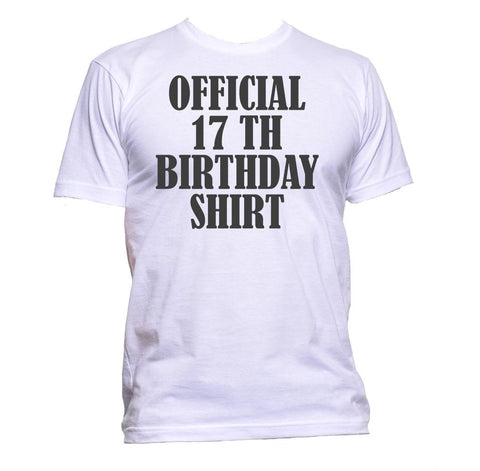 AppleWormDesign • Official 17th Birthday Shirt Birthday Years Old gift - Men's T-Shirt •