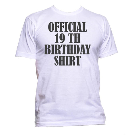 AppleWormDesign • Official 19th Birthday Shirt Birthday Years Old gift - Men's T-Shirt •