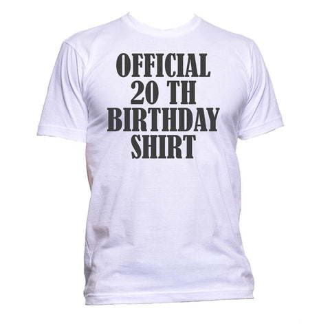 AppleWormDesign • Official 20th Birthday Shirt Birthday Years Old gift - Men's T-Shirt •