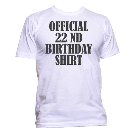 AppleWormDesign • Official 22nd Birthday Shirt Birthday Years Old gift - Men's T-Shirt •