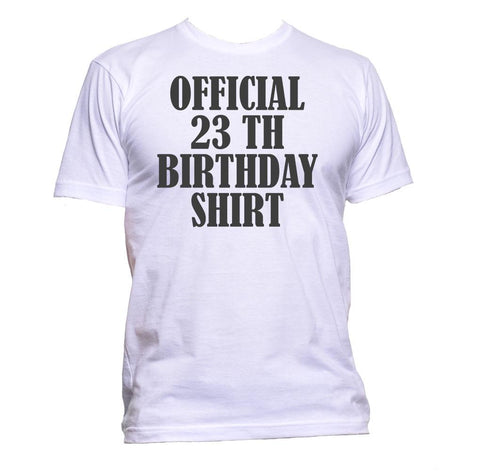 AppleWormDesign • Official 23th Birthday Shirt Birthday Years Old gift - Men's T-Shirt •