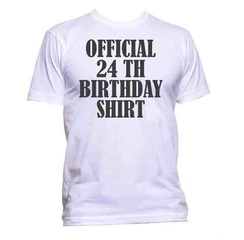 AppleWormDesign • Official 24th Birthday Shirt Birthday Years Old gift - Men's T-Shirt •