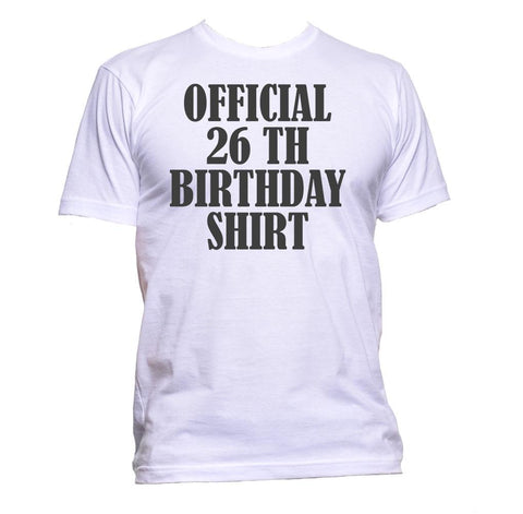 AppleWormDesign • Official 26th Birthday Shirt Birthday Years Old gift - Men's T-Shirt •