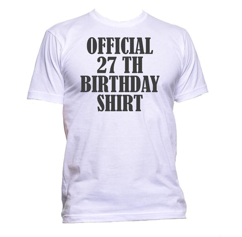 AppleWormDesign • Official 27th Birthday Shirt Birthday Years Old gift - Men's T-Shirt •