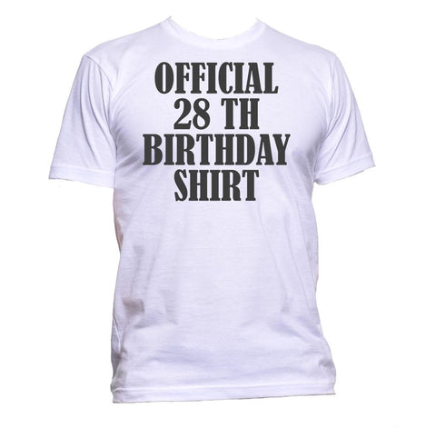 AppleWormDesign • Official 28th Birthday Shirt Birthday Years Old gift - Men's T-Shirt •