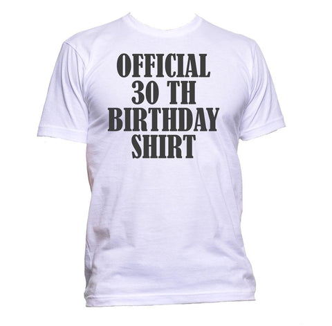 AppleWormDesign • Official 30th Birthday Shirt Birthday Years Old gift - Men's T-Shirt •