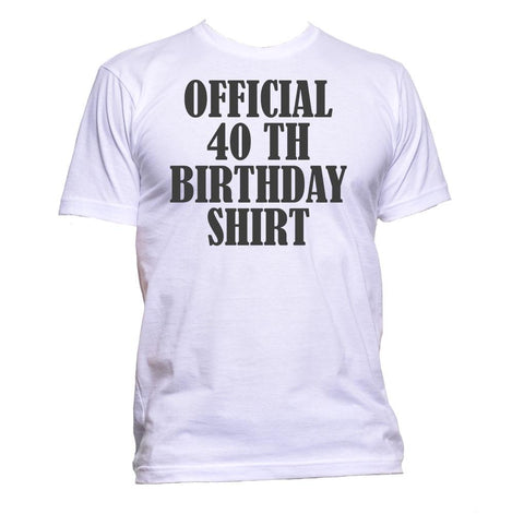 AppleWormDesign • Official 40th Birthday Shirt Birthday Years Old gift - Men's T-Shirt •