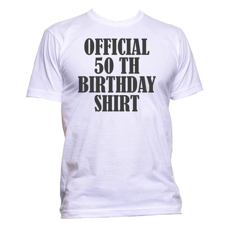 AppleWormDesign • Official 50th Birthday Shirt Birthday Years Old gift - Men's T-Shirt •