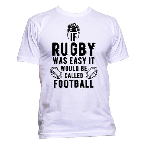 AppleWormDesign • If Rugby Was Easy It Would Be Called Football gift - Men's T-Shirt •