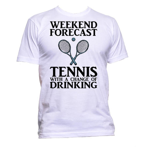 AppleWormDesign • Weekend Forecast Tennis With A Change Of Drinking gift - Men's T-Shirt •