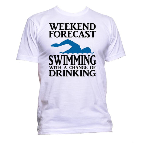 AppleWormDesign • Weekend Forecast Swimming With A Change Of Drinking gift - Men's T-Shirt •