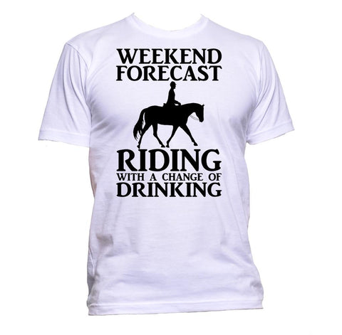 AppleWormDesign • Weekend Forecast Riding With A Change Of Drinking gift - Men's T-Shirt •