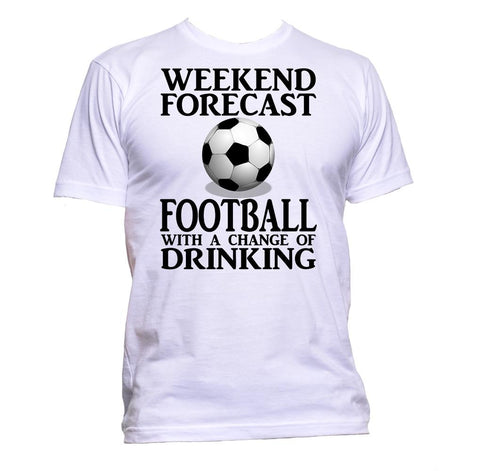 AppleWormDesign • Weekend Forecast Football With A Change Of Drinking gift - Men's T-Shirt •