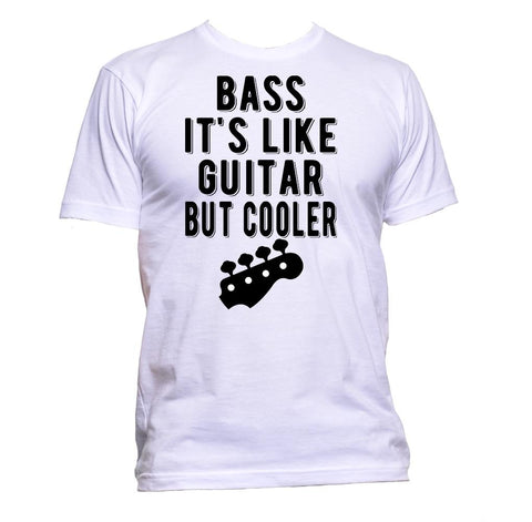 AppleWormDesign • Bass It's Like Guitar But Cooler Guitar gift - Men's T-Shirt •