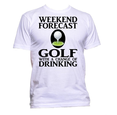 AppleWormDesign • Weekend Forecast Golf With A Change Of Drinking gift - Men's T-Shirt •
