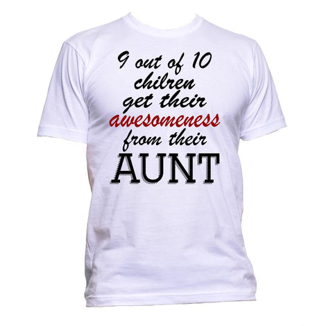 AppleWormDesign • 9 out of 10 Children Get Their Awesomeness From Aunt gift - Men's T-Shirt •