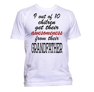 AppleWormDesign • 9 out of 10 Children Get Their Awesomeness From Their Grandfather gift - Men's T-Shirt •
