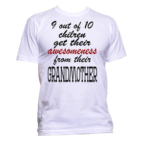 AppleWormDesign • 9 out of 10 Children Get Their Awesomeness From Their Grandmother gift - Men's T-Shirt •