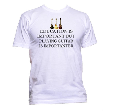 AppleWormDesign • Education Is Important But Playing Guitar Is Importanter gift - Men's T-Shirt •