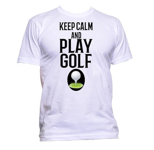 AppleWormDesign • Keep Calm And Play Golf gift - Men's T-Shirt •