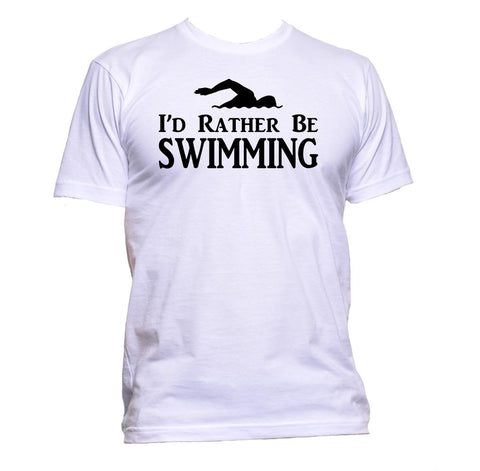 AppleWormDesign • I'd Rather Be Swimming gift - Men's T-Shirt •