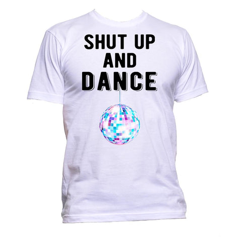 AppleWormDesign • Shut Up And Dance Disco Ball DJ gift - Men's T-Shirt •