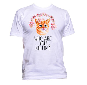 AppleWormDesign • Who Are You Kittin Cat gift - Men's T-Shirt •