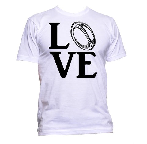 AppleWormDesign • Love Rugby Ball gift - Men's T-Shirt •